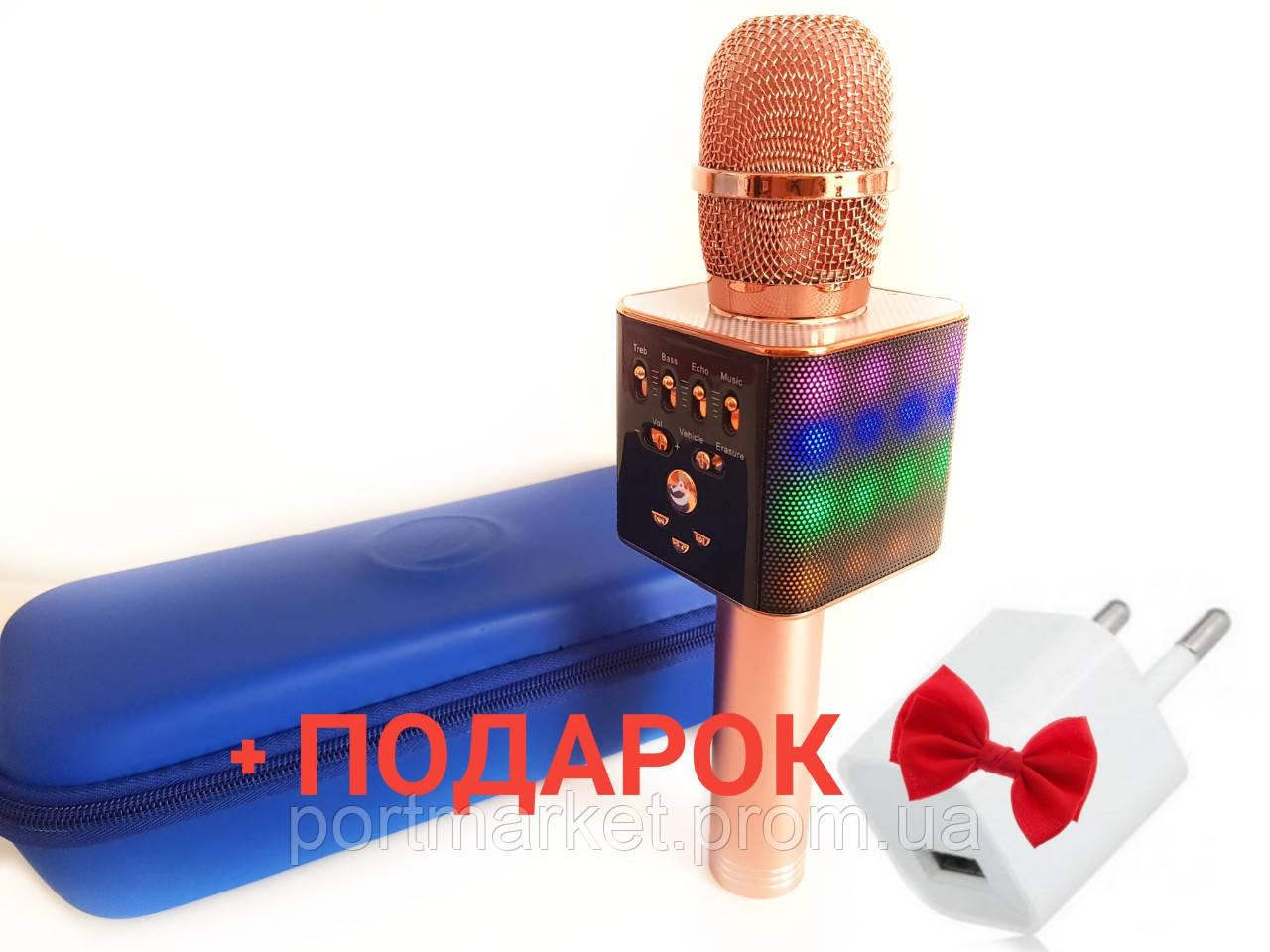 Беспроводной микрофон-караоке с светомузыкой, USB и Bluetooth WSTER L17 :