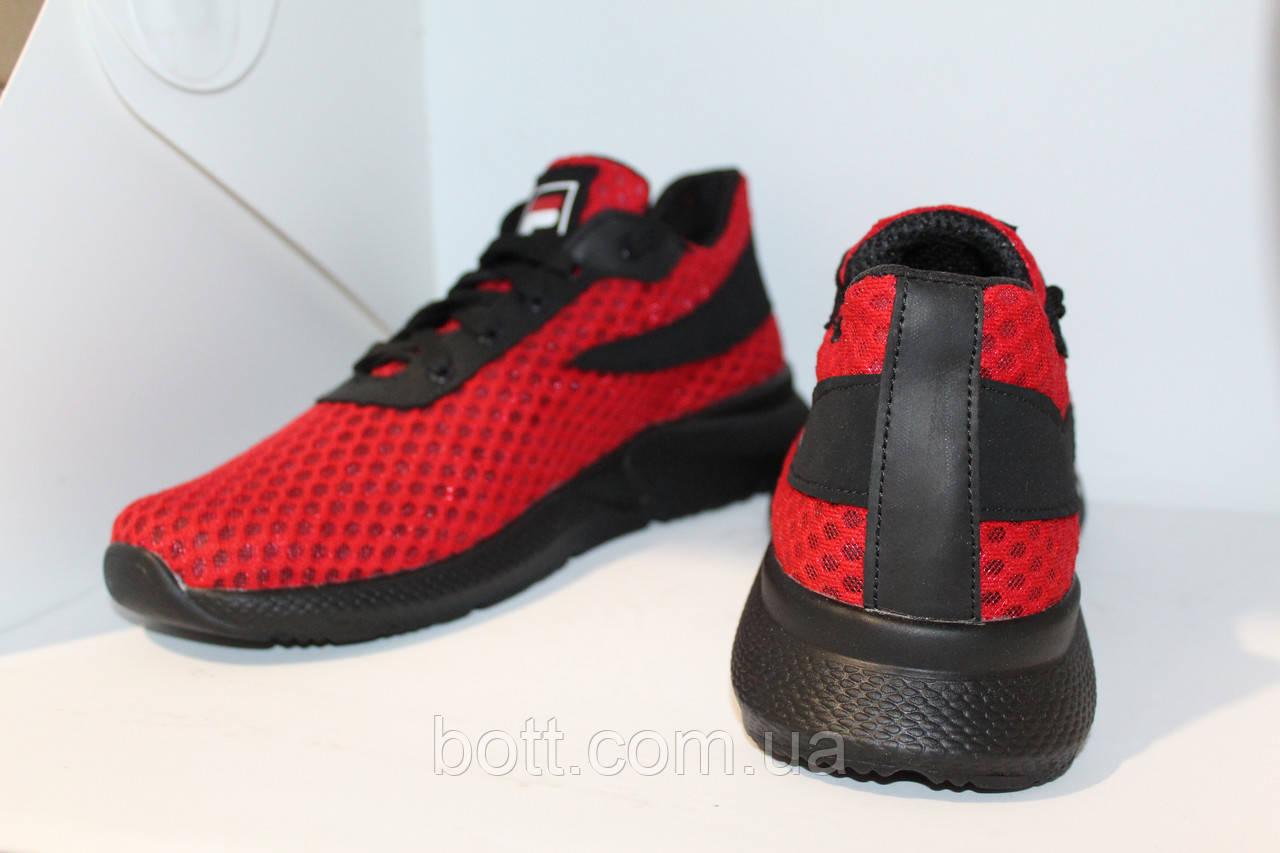Кроссовки красные сетка
