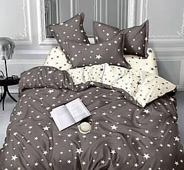 Двуспальный комплект постельного белья 180*220 сатин (11655) Украина
