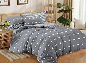 Двуспальный комплект постельного белья евро 200*220 сатин (11658) Украина