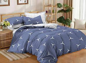 Двуспальный комплект постельного белья 180*220 сатин (11651) Украина