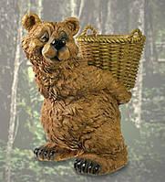 """Фігурка Кашпо """"Ведмідь з кошиком"""" (Sealmark)"""