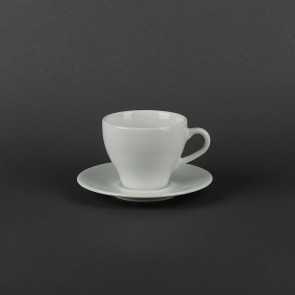 Чашка с блюдцем фарфоровая 200мл Lubiana ПАУЛА 1702/1712