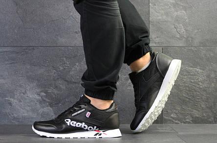 Мужские кроссовки Reebok,черно- белые, фото 2