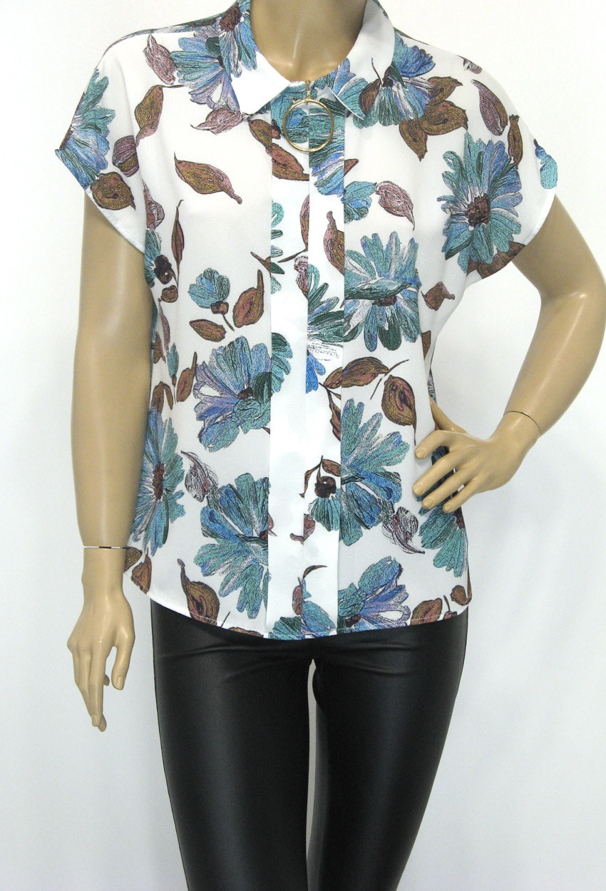 Нарядна жіноча шифонова блуза