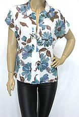 Нарядна жіноча шифонова блуза, фото 3