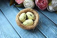 """Набор """"Гнездо из сезали с яйцами"""", 6 см,  2 шт/уп,  микс , фото 1"""