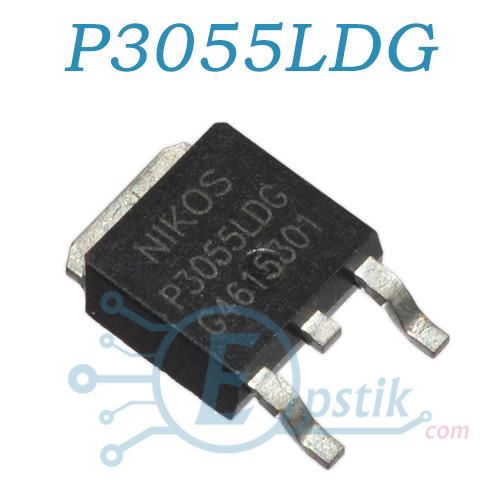 P3055LDG, Mosfet транзистор N-канал, 25В 12А, TO252