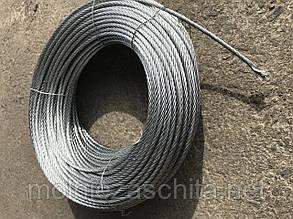 Трос стальной оцинкованный (6х7) ф4 мм