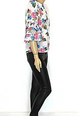 Жіноча весняна блузка з квітковим принтом, фото 2