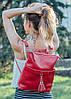 Рюкзак трансформер кожаный модель 05 красный флотар