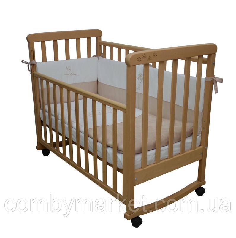 Кроватка Верес ЛД12 Соня без колёс бук