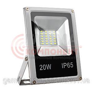 Прожектор светодиодный SMD SLIM 20Вт, 3500К, IP65, 220В