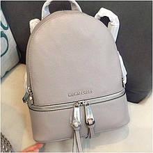 Рюкзак, портфель Майкл Корс в сірому кольорі, натуральна шкіра