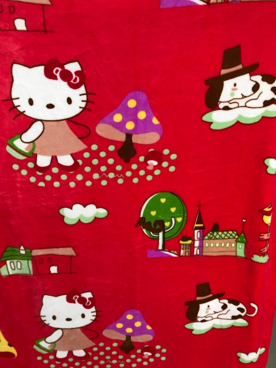 Детское одеяло-покрывало двойное с Хеллоу Кити 100х130