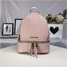 Рюкзак, портфель Майкл Корс в рожевому кольорі, натуральна шкіра