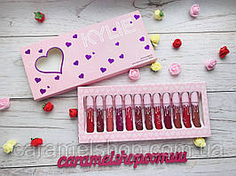 Набор жидких матовых помад Kylie By Kylie Cosmetics 12 шт Сердце реплика