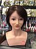 Голова-манекен учебная c плечами (натуральные волосы), Шатенка