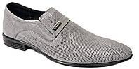 """Мужские летние туфли """"Strado"""". Натуральная кожа. Серые"""
