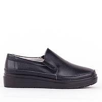 Мокасины слипоны Allshoes 8360-1 BLACK 36 23 см, фото 1