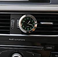 Автомобильные часы в решетку воздуховода или на скотче к поверхности - ЧЕРНЫЙ ЦИФЕРБЛАТ