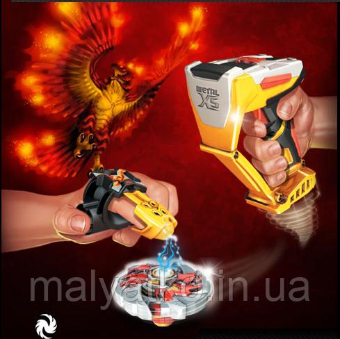 Ігровий набір волчек Вогненний Яструб - Firehawk, Metal XS, Starter Pack, Battle Strikers, Mega Bloks - фото 4