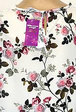 Блуза квітковий принт батал, фото 3