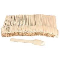 Вилка деревянная одноразовая 16см 100шт/уп