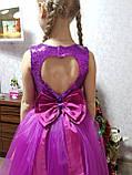 Ошатне плаття з вирізом на спині, на 134 зростання, фото 5