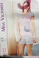 """Пижама футболка с шортиками """"Miss Victoria"""""""