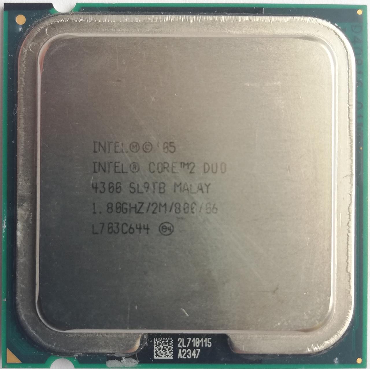 Процессор Intel Core 2 Duo E4300 L2 SL9TB 1.80GHz 2M Cache 800 MHz FSB Socket 775 Б/У
