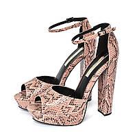 Женские босоножки розовые на платформе Miss Selfridge, 39