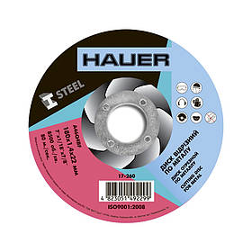 Диск отрезной Hauer по металлу 180 х 1.4 х 22 мм (17-260)