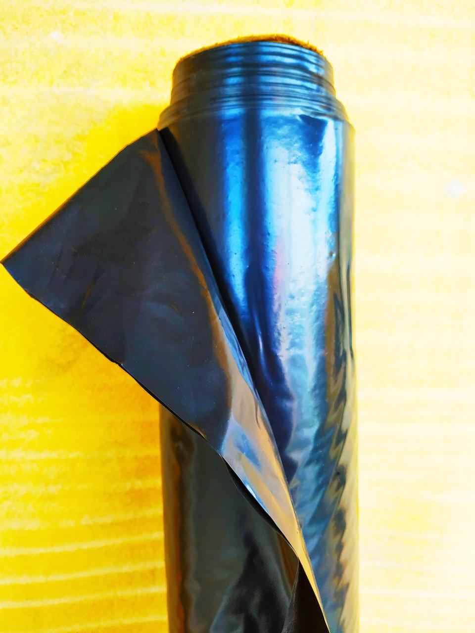 Пленка черная 50мкм. На метраж (3м ширина) (строительная, для мульчирования)