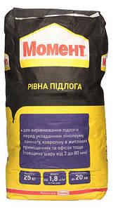 Самовыравнивающаяся смесь Момент (Moment) Ровный пол, 25 кг