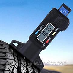 Тестер - глубиномер цифровой для измерения глубины протектора шин, тормозных колодок