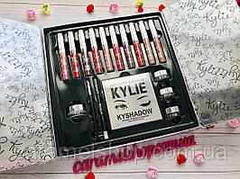 Набір косметики з матових помад,тіні,блиск Kylie Ky-1 Limited Edition Holiday Box 10 кольорів копія