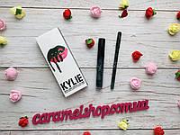 Набор жидкая матовая помада + карандаш для губ 2 в 1 Kylie ЦВЕТ Trick 4 мл реплика зеленая помада