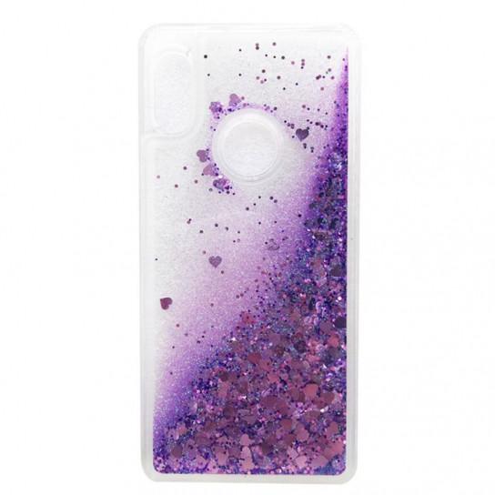 TPU чехол Liquid hearts для Xiaomi Redmi S2 Фиолетовый