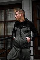 Спортивный костюм мужской в стиле Nike / весенний / осенний черно-серый