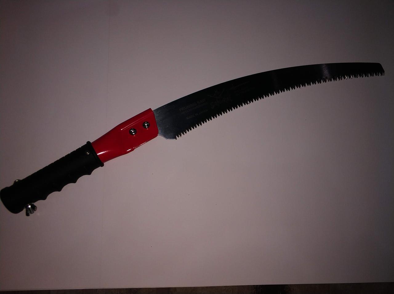 Пила с изогнутым полотном, трубчатая ручка, крепление телескопическое удлиненное, L=330 мм/4 мм