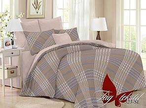 Двухспальное постельное белье поплин ТМ TAG SL323