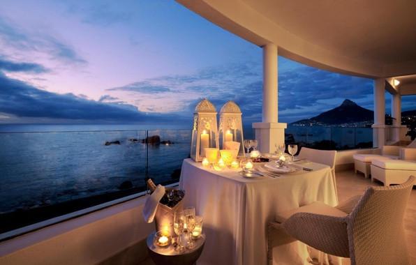 Свечи романтика свечи у воды