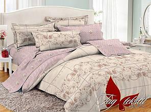Двухспальное постельное белье поплин ТМ TAG PC056