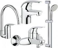 Набор смесителей для ванной и кухни Grohe EuroEco 123242K