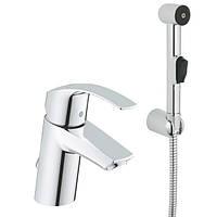 Смеситель Grohe Eurosmart однорычажный для раковины S-Size с гигиеническим душем