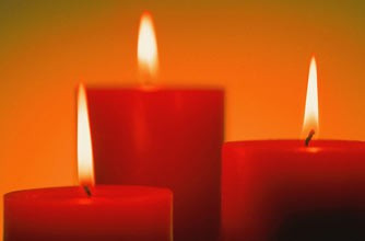 Свечи красные red candle
