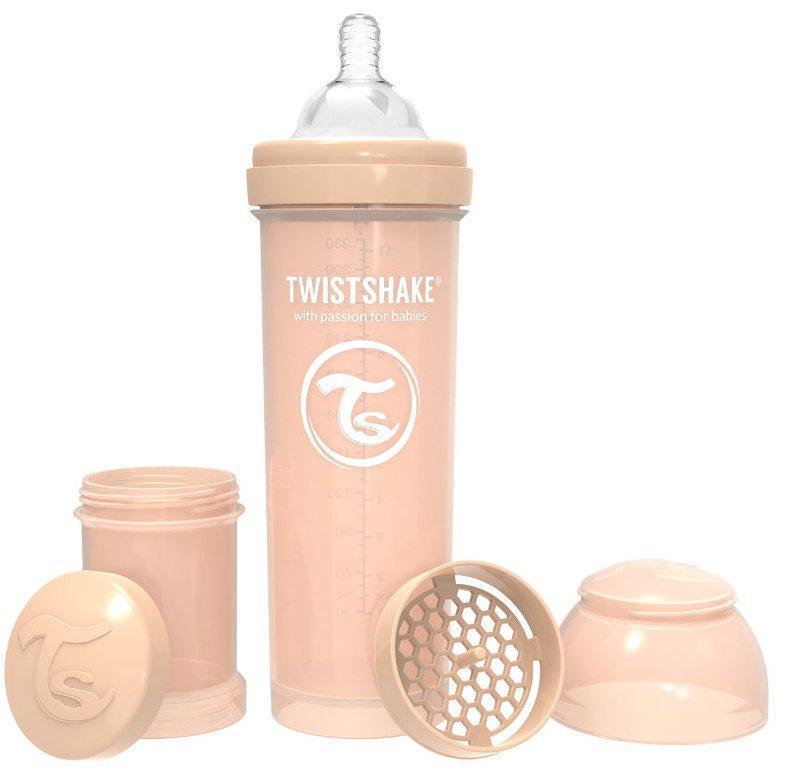 Бутылочка антиколиковая Twistshake 330 мл светло-персиковый (69876)