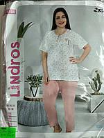 Пижама женская футболка + брюки  батал