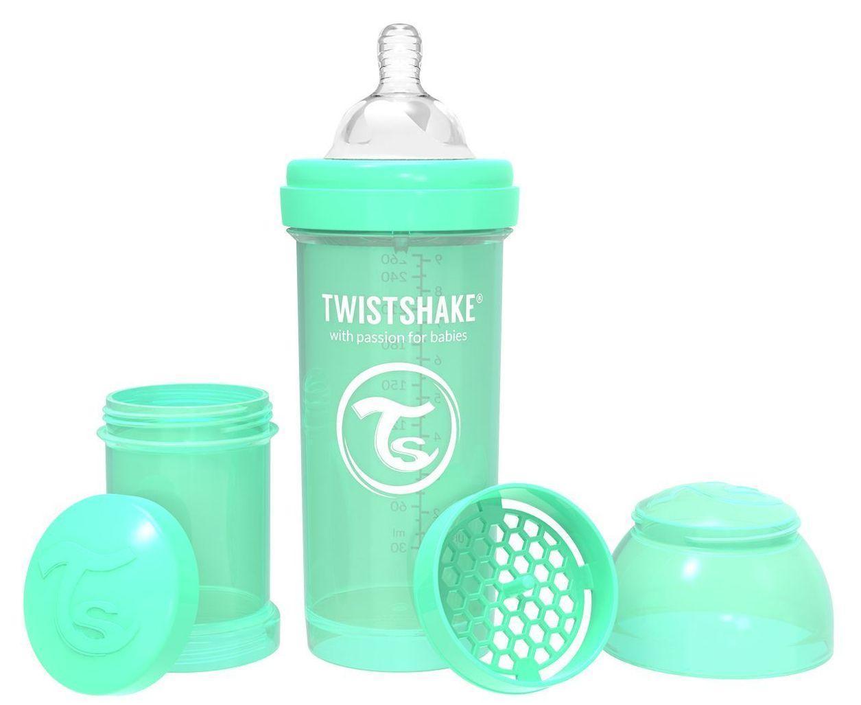 Бутылочка антиколиковая Twistshake 260 мл мятный (69865)